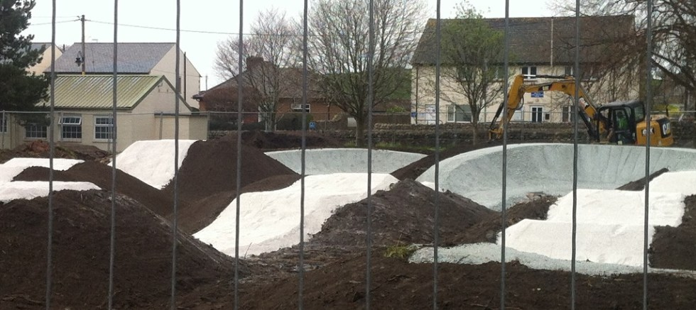 Ingleton's New Pumptrack takes shape