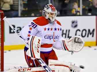 Braden Holtby signed a new five-year contract with the Washington Capitals one day after an arbitration hearing. (InGoal photo by Scott Slingsby, All Rights Reserved)
