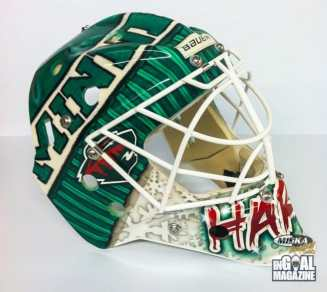 Josh Harding Toque Mask Minnesota Goalie-1