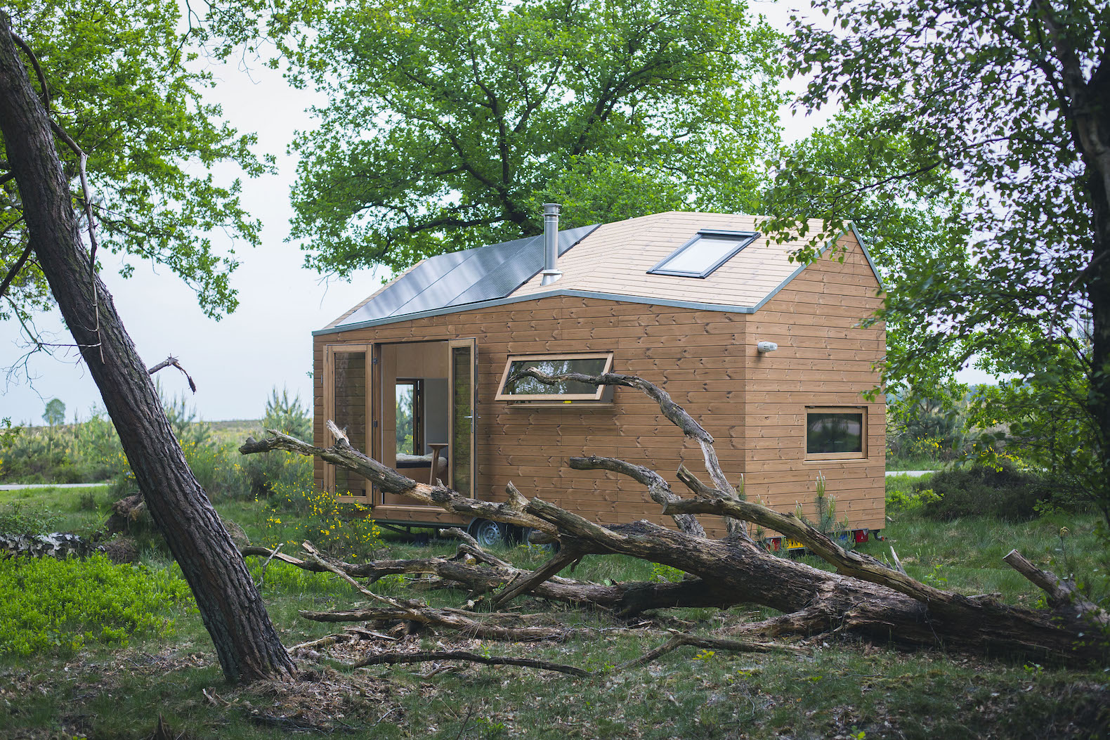 Cheerful Tiny Home Lets Owner Live Inhabitat Green Building Tiny Home Lets Owner Live Sale Washington Off Grid Homes Off Grid Homes Sale Colorado curbed Off Grid Homes For Sale