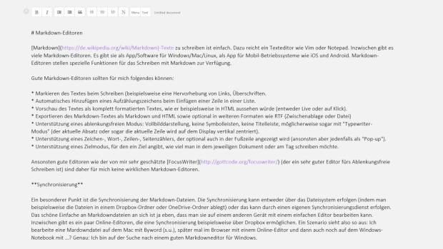 Markdown-Editoren: Writeplus