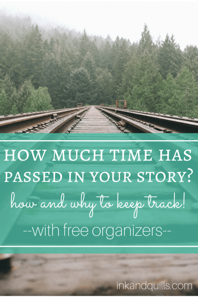 How Much Time Has Passed in Your Story? | It's important to keep track of your story's timeline to avoid embarrassing mistakes or inconsistencies. Here are some FREE organizers to help you stay on top of things!
