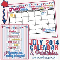 July 2014 Calendar ...Memories are waiting to happen!