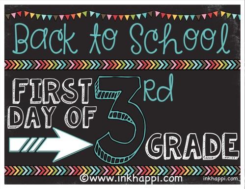 Medium Of First Day Of Kindergarten Sign