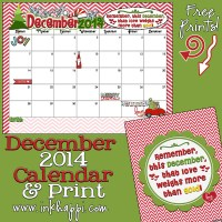 December 2014 Calendar is here. Yep!