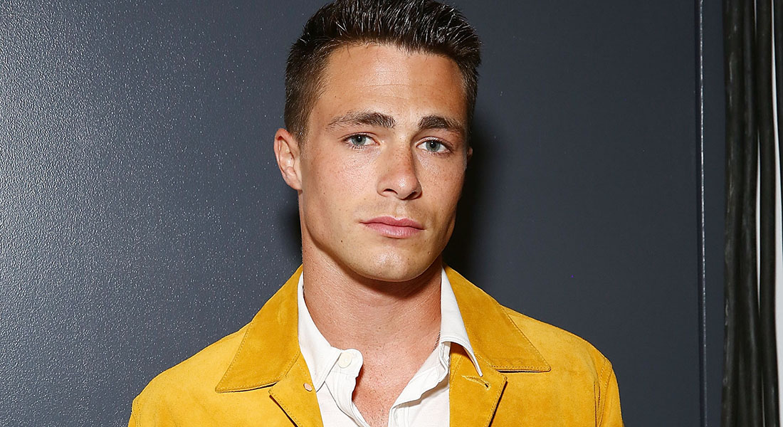 NEW YORK, NY - JULY 15:  Actor Colton Haynes wearing clothing designed by Billy Reid poses backstage at Billy Reid - New York Fashion Week: Men's S/S 2016at Art Beam on July 15, 2015 in New York City.  (Photo by Astrid Stawiarz/Getty Images For Billy Reid)