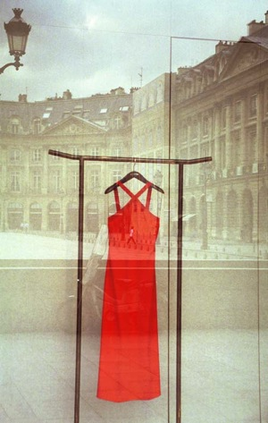 Red Dress Place Vendome by Lenore Horowitz