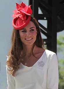Princess of Cambridge wearing a fascinator for Canada Day 2011