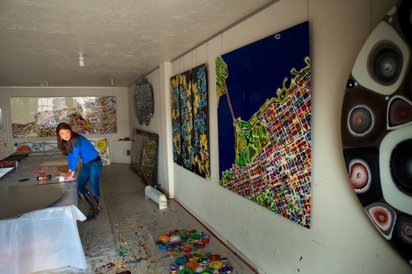 Klari Reis in her studio