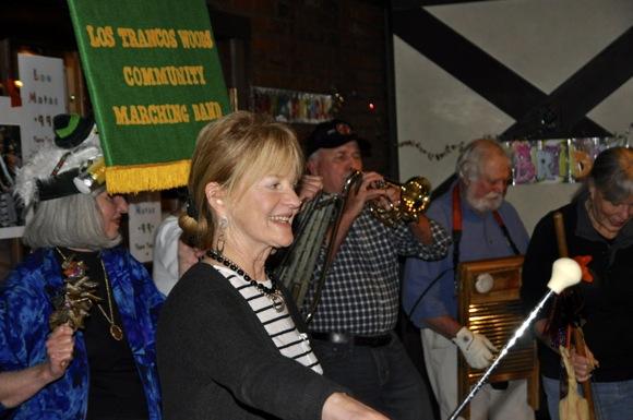 Los Trancos Marching Band at Louis Matas birthday celebration