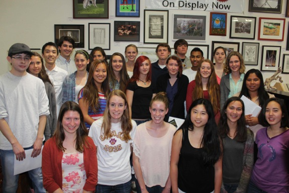 M-A student artists at Great Frame Up