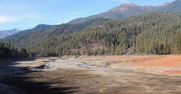 Trinity Lake dry