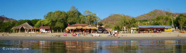 There are two beach bar restaurants on Playa Remanso -- Tacos Bar and Slady Brothers Surf Bar.