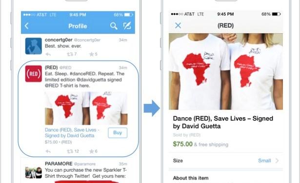 Мобильный шоппинг в Twitter