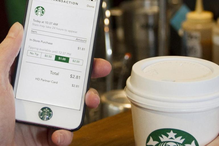 Starbucks-digital-tipping-app