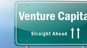 Highway Signpost with Venture Capital wording