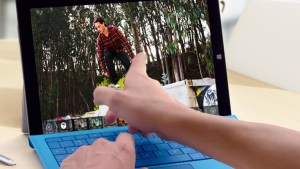 Touching a picture on a Surface