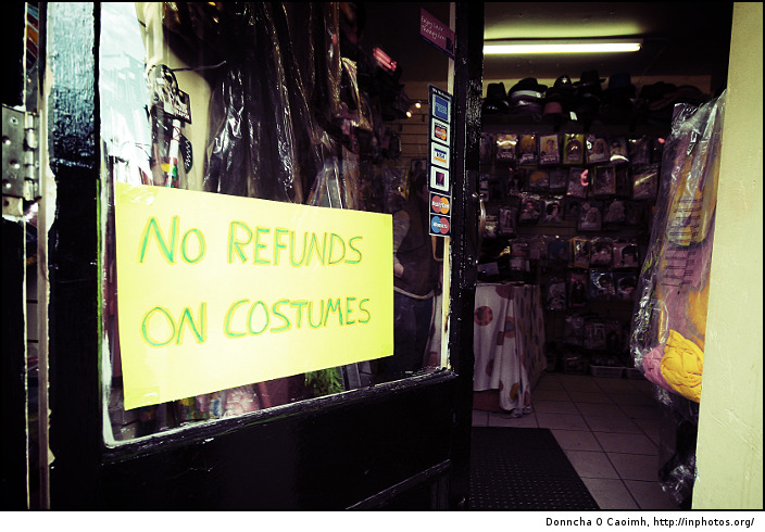 No Refunds on Costumes