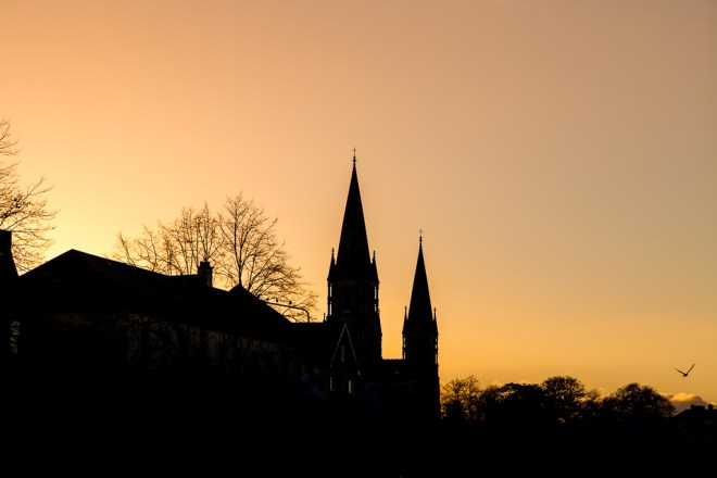 St Fin Barre's at Sunset