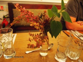 Foraged table dressing at Charles Lamb