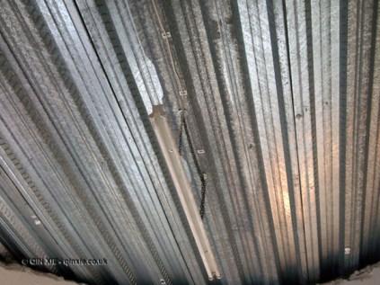Iron ceiling at Kirin Ichiban Yatai