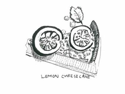 Lemon cheesecake at Piccolino, Heddon Street