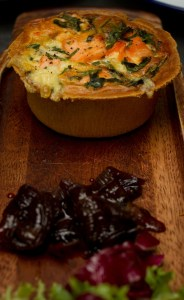 Roasted vegetable and Puy lentil pie at Putney Pie