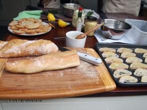 Making toast at Fish in a Day, Food Safari