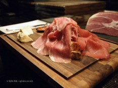 Charcuterie board at Dego, London