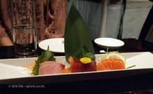 Sashimi platter, sushi making at Ichi Sushi and Sashimi Bar