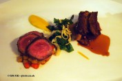 Herdwick mutton, sticky ribs, braised shoulders, navarin of autumn vegetables at thirty six by Nigel Mendham, Dukes Hotel