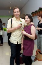 Jason Bailey and Qin Xie at Ceviche by Asia de Cuba