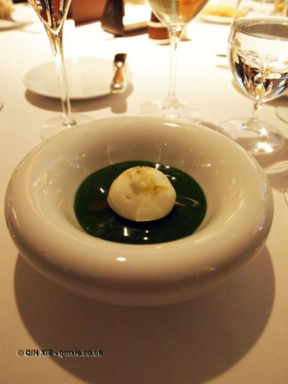 Cornish crab, mint jelly, cauliflower, Granny Smith apple, curry, Champagne Duval-Leroy lunch at The Greenhouse, Mayfair