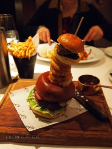Burger stack, London Malmaison Brasserie