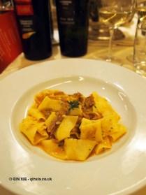 Pappardelle pasta with Genovese duck, Villa Maria, Abruzzo