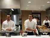 Quique Dacosta and Eneko Atxa in kitchen, Azurmendi, Vizcaya