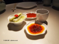 Dips and pickles, Chinese New Year at Yauatcha, London