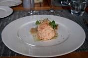 Salmon mousse, Domaine Gayda, Brugairolles