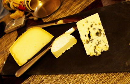 Selection of Frederic Boyer's cheeses, Paul Mas, Montagnac