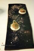 Meringue, chicken liver, pickled apple, Gastrologik, Stockholm