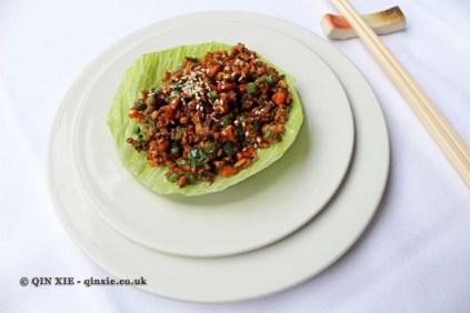 Pork mince in a lettuce wrap, Hunan, London