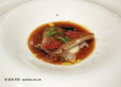 Red mullet - sautéed with lemon purée, lemon confit and bivalves sauce, The Yeatman, Porto