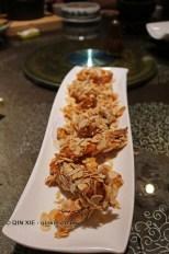 Almond coated sweet potatoes, Vegan Restaurant, Chengdu
