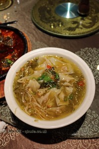 Wonton in enoki soup, Vegan Restaurant, Chengdu