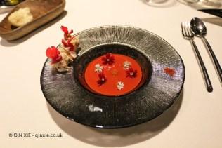 Natural spider crab, emulsion and infusion, Azurmendi