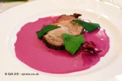 Pink mole, hibiscus flower and holy leaf, Elena Reygadas at the Mexican Embassy in London