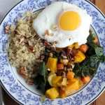 Quinoa with Squash, Kale, and Pecans // Inquiring Chef