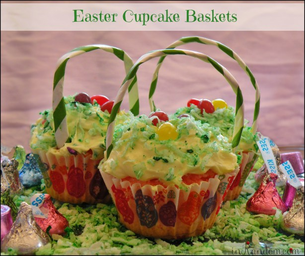 Easter Cupcake Baskets #BunnyHop