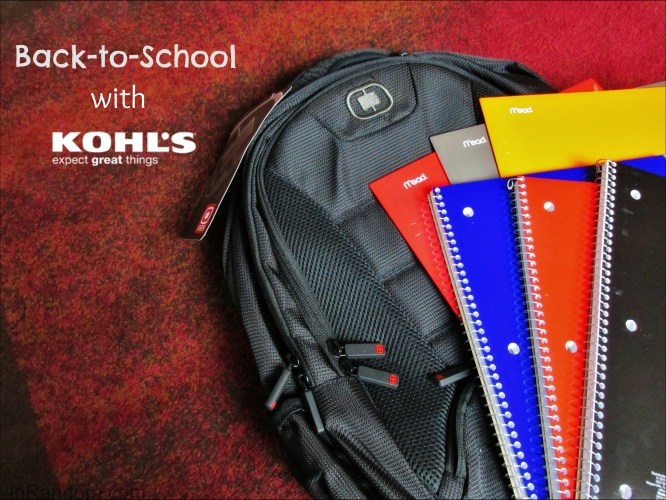 back to school with Kohl's