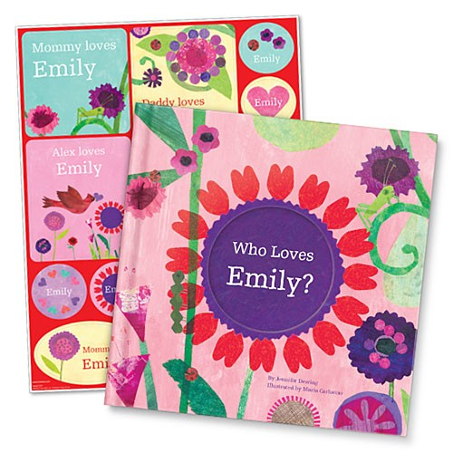 Who Loves Me? Valentine Edition Storybook & Stickers Gift Set Sweet Personalized Children's Book